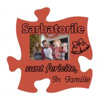 Rama foto tip puzzle Sarbatorile sunt fericite in familie, 15x10 vedere