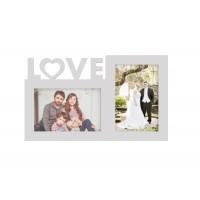 Rama foto colaj de birou, LOVE, 18x30 cm, din lemn