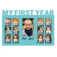 Rama foto My first year, 40 x 27,albastru