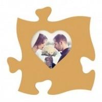 Rama foto tip puzzle, 15x15 inima mare