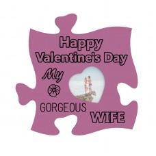 Rama foto de perete, Happy Valentines's My gorgeous Wife,10x10, inima mica