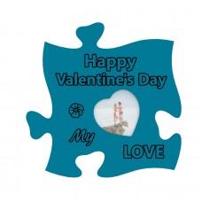 Rama foto de perete, Happy Valentines's Day My Love, 10x10, inima mica
