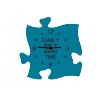 Ceas puzzle de perete, Family time is sacred time,  30 x 30 cm