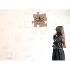 Ceas puzzle de perete,Timpul petrecut cu familia valoreaza fiecare secunda,  30 x 30 cm